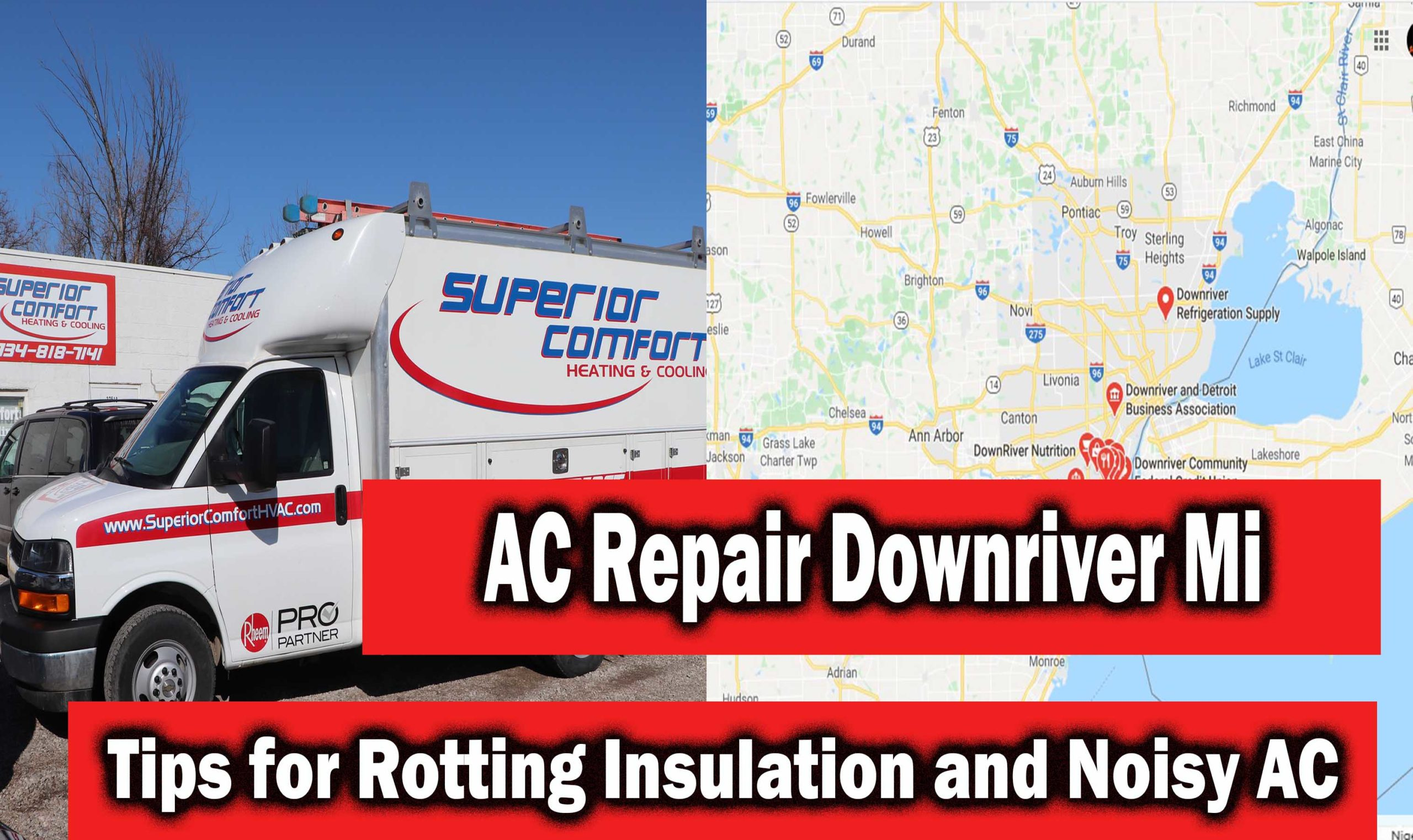 AC Repair Downriver Mi Tips to Replace Rotting Insulation and Fix Noisy Air Conditioner Units